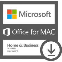 Microsoft Office for MAC Home & Business 2016 ESD W6F-00608